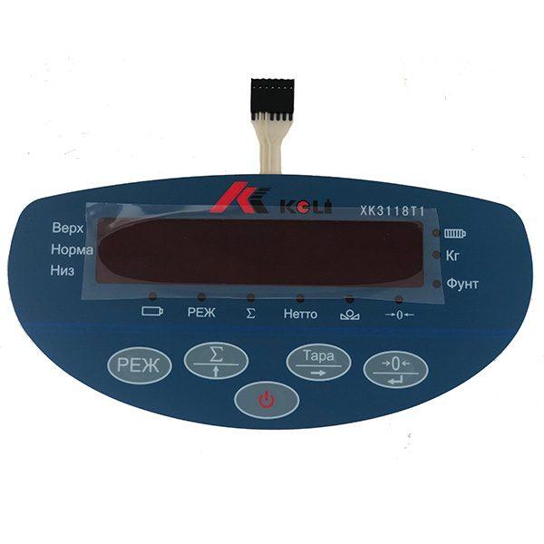 Мембранная клавиатура для индикатора ХК3118Т1